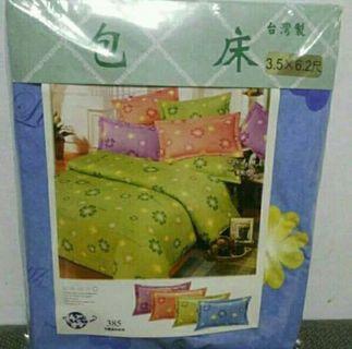 單人床包十 枕頭套( 藍色)