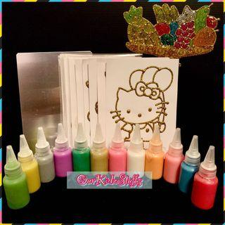 Glittery Glass Stickers Kit (oven-baked)