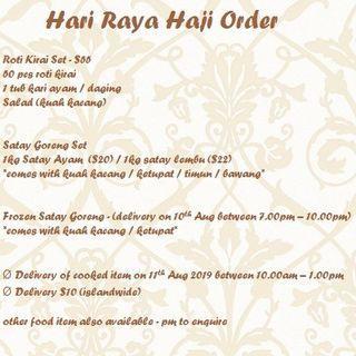 🚚 Hari Raya Haji 2019 Order