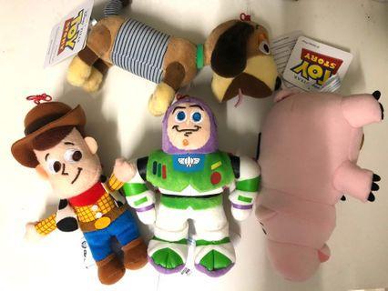 一套4 件 - Toy story 反斗奇兵 豬博士 pig 胡迪 woody 巴斯光年 buzz light year 轉轉彈弓狗 slinky