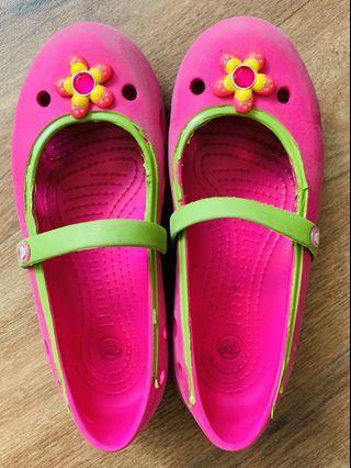 Crocs pink Mary Janes C13 girls