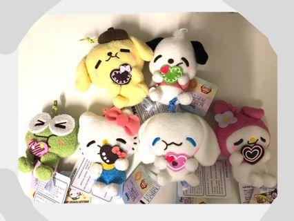一套6件- Hello kitty kerokerokeroppi cinnamoroll pc狗 布甸狗 my melody valentines 情人節 朱古力 甜品 Namco Sanrio
