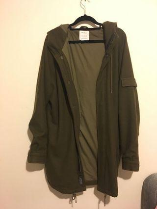 RVCA army green coat