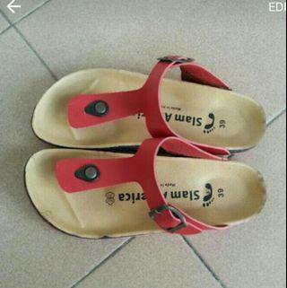 T-bar sandal red sandals shoes