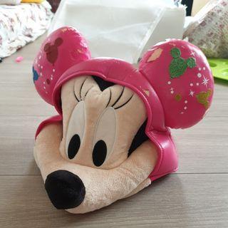 日本迪士尼帶回粉紅米妮頭飾帽