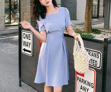 (C1008067) 新韓款 淨色 氣質 修身 顯瘦 連身裙