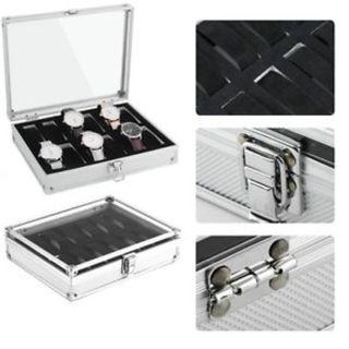 12 pcs Watch Case Box - silver