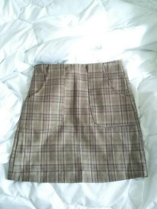 🚚 質感超好格紋短裙