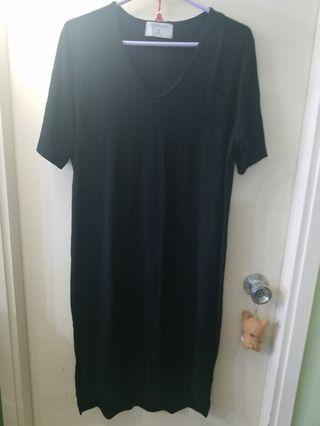 全新 女裝黑色長裙 簡單易襯 free size $80 made in Korea 韓國 包平郵
