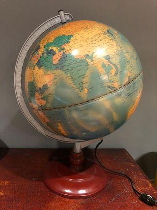 Vintage Illuminated Globe