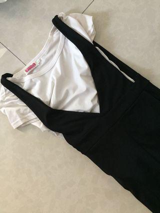 Pre love casual set (top+dress)