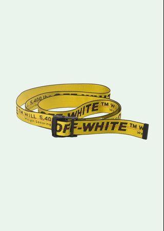 Authentic off white industrial belt