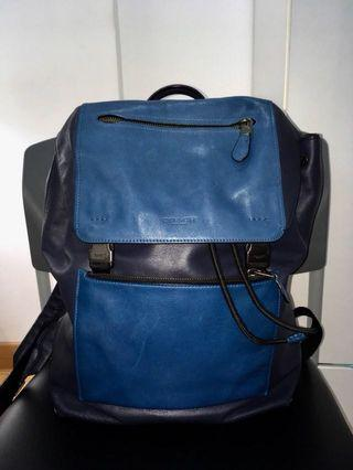 Authentic Coach 1941 Coach Manhattan Backpack in Sport Calf Leather in Blue for Mens