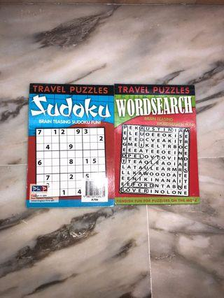 🚚 Sudoku and word search travel book
