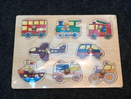 🚚 Wooden Transportation Puzzle