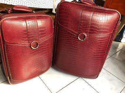 Leather set. Vintage. Jag brand.