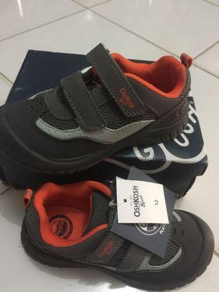 New Oshkosh Bgosh grey orange size 12