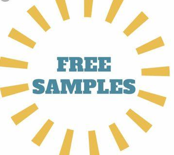 Samples with purchase