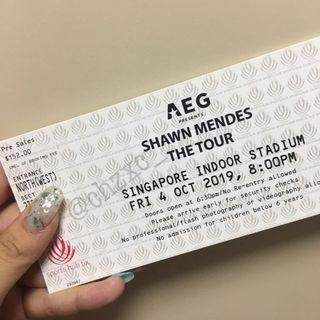 SELLING X 1 CAT 3 SHAWN MENDES CONCERT TICKETS