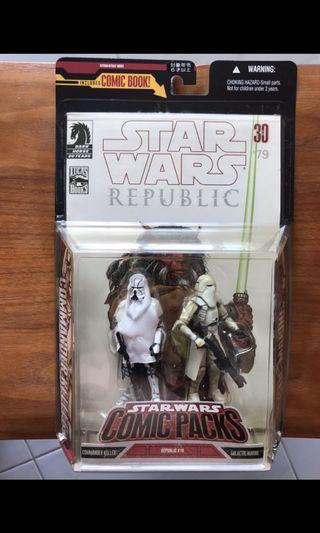 🚚 Star Wars 30th Anniversary Exclusive Expanded Universe 3.75 inch Commander Keller and Galactic Marine