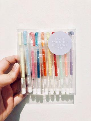 Kikki K Pastel & Neon Mini Pens