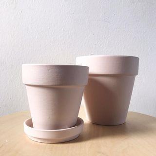 🚚 Nordic Pink Terracotta Planter Plant Pot