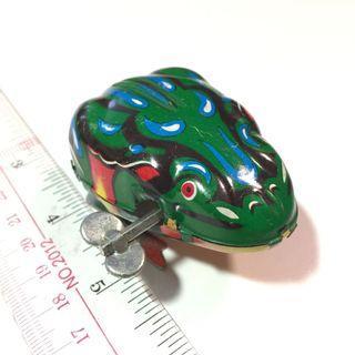 鐵皮玩具 跳跳青蛙 上鍊玩具 懷舊經典 二手收藏 冇盒 ⚠️底部有花⚠️