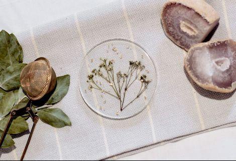 Handmade Floral Resin Coasters