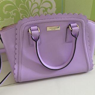 99%新 Kade Spade 粉紫色 少女淑女手袋(手挽或單揹斜揹均可)#lalamove