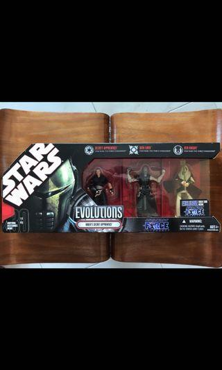 🚚 Star Wars Hasbro Evolution 3.75 inch Vader's Secret Apprentice 3 Pack