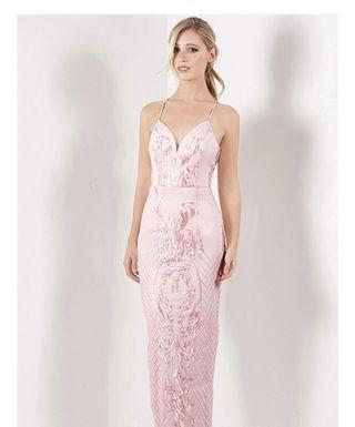 Bariano Lois Low Back Gown