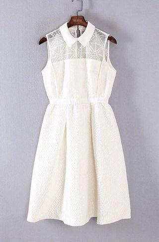 我是日本人我要返日本了!✈️🇯🇵白色連身裙 White Dress- LiLy Party Dress , 派對,晚宴,飲宴,斯文,高貴,典雅!購入價$1599‼️回國平售$380‼️(請看所有照片)