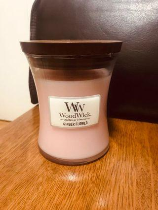 WOODWICK GINGER FLOWER SOY WAX CANDLE RRP$84