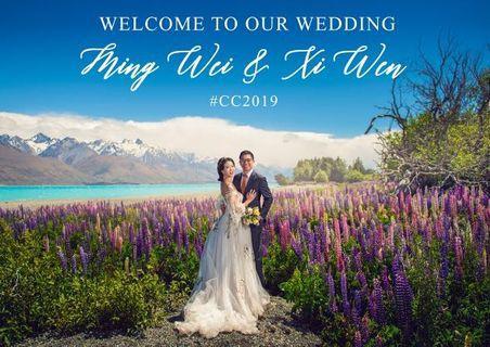 🚚 Photo Wedding Welcome Signage