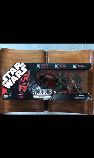 🚚 Star Wars Hasbro Evolutions The Sith Legacy 3.75 inch 3 Pack