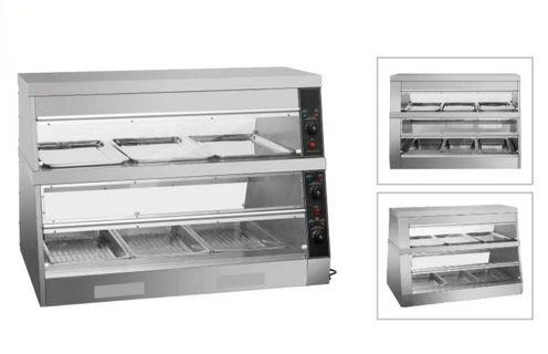 Commercial 1.2m long food warmer