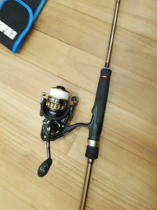 🚚 Storm teenie fishing rod with 1500 Daiwa BG
