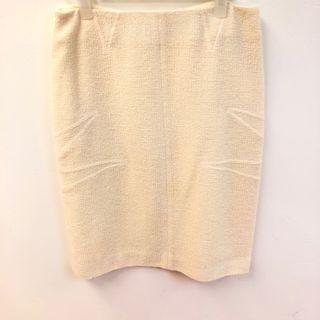Christian Dior cream white skirt size F34
