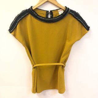 Galliano brown yellow top size 40