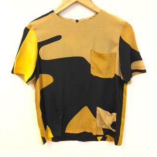 Marni black yellow top size 36