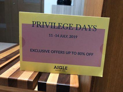 Aigle privilege days invitation