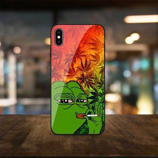 Pepe weed phone case 悲傷蛙 手機殼 iphone 678xrs s10 s9 420 cbd