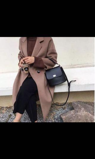 Fashion Vintage Bucket Black Sling Bag Hitam
