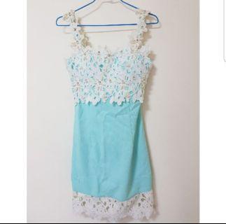 【實拍】水藍洋裝