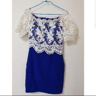 🚚 【實拍】深藍典雅洋裝