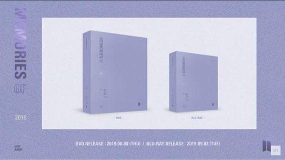 PO Loose & Fullset - BTS 2018 MEMORIES