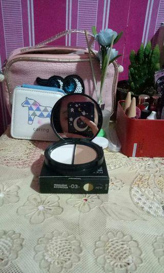 Focallure Bronzer and Highlighter Compact Powder 2 in 1 Shimmer