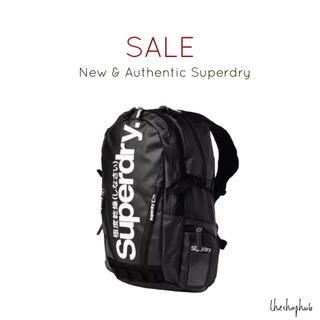 *INSTOCK AUTHENTIC* Superdry Tarpaulin Backpack-Black and white