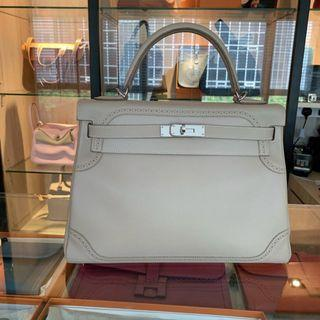 Hermes Kelly 32 Ghillies in Argile