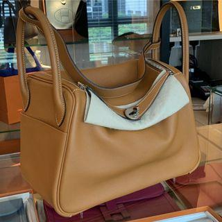 Hermes Lindy 30 in Toffee
